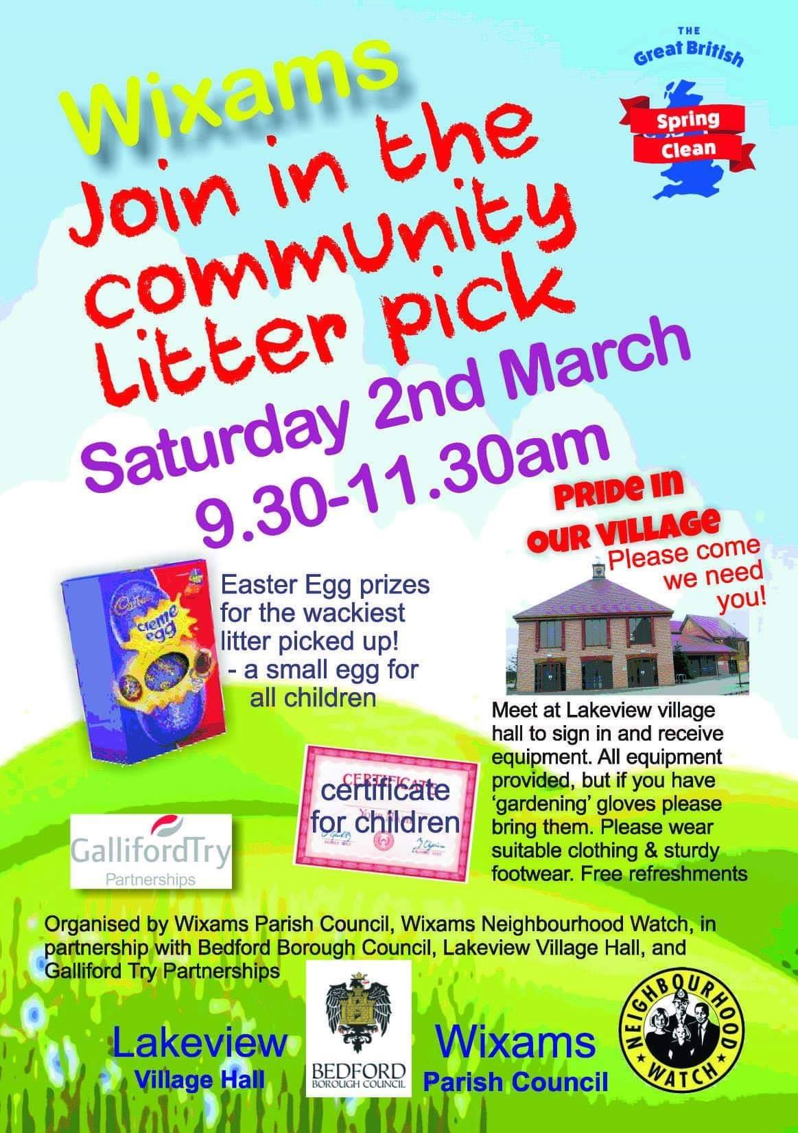 Wixams Community Litter Pick Poster