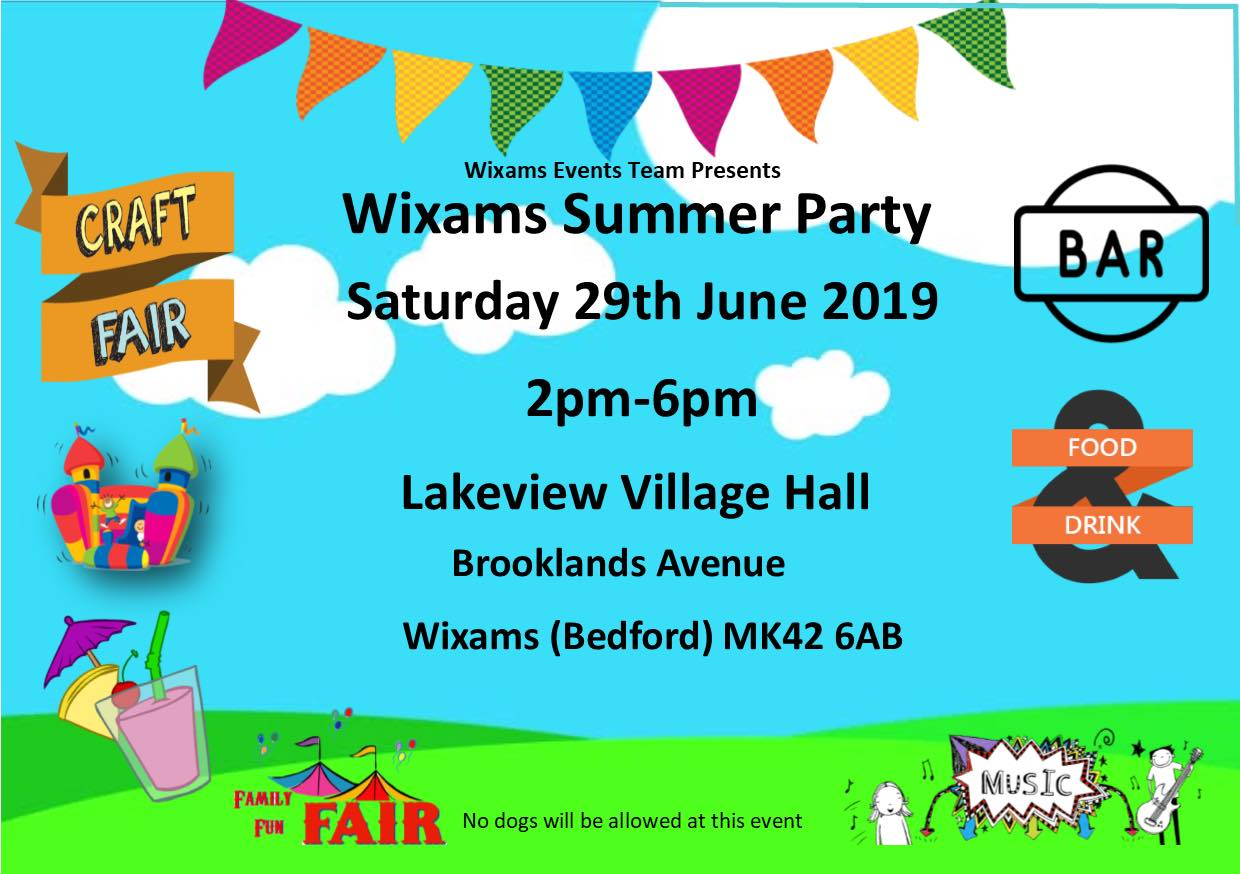 Wixams Summer Party 2019 Flyer