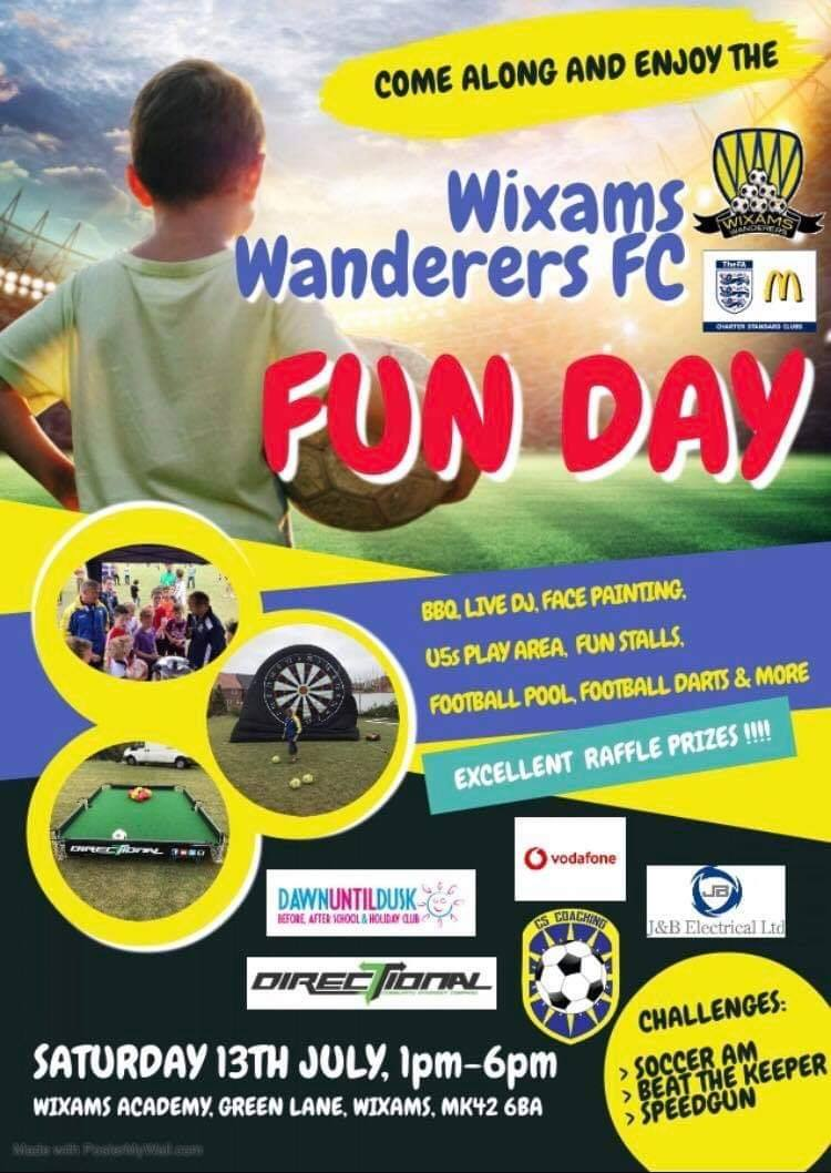Wixams Wanderers Fun Day Leaflet
