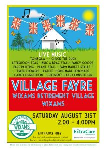 Wixams Retirement Village Fayre 2019 Flyer