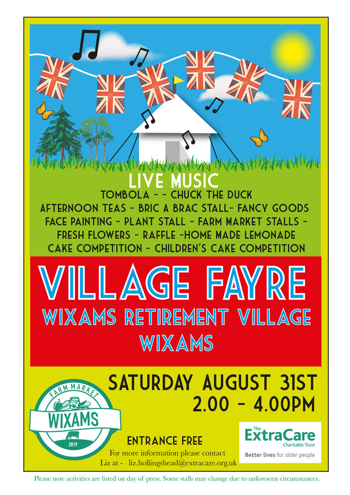 Wixams Retirement Village Fayre 2019 Flyer