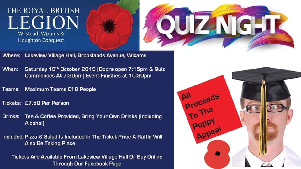 RBL Quiz Night Flyer