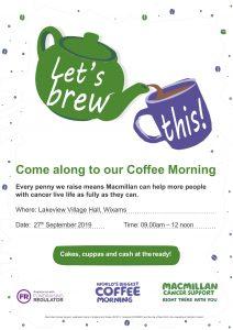 Macmillan Coffee Morning Flyer
