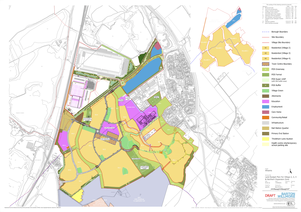 Wixams Masterplan Map 2016 - Revision R